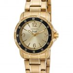Invicta Angel Swiss Movement Quartz Watch – Gold case with Gold tone Stainless Steel band – Model 0550