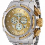 Invicta Bolt Quartz Watch – Gold case with Gold tone Stainless Steel band – Model 0822