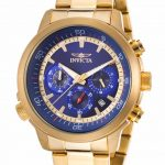 Invicta Specialty Quartz Watch – Gold case with Gold tone Stainless Steel band – Model 19241