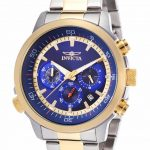 Invicta Specialty Quartz Watch – Gold, Stainless Steel case with Steel, Gold tone Stainless Steel band – Model 19399