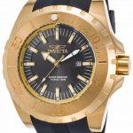 Invicta Pro Diver Men's Quartz 52mm Gold Case Charcoal Dial – Model 23732