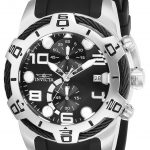 Invicta Bolt Men's Quartz 50mm Stainless Steel Case Black Dial – Model 24215