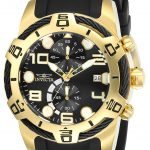 Invicta Bolt Men's Quartz 50mm Gold Case Black Dial – Model 24218