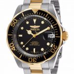 Invicta Pro Diver Men's Automatic 40mm Gold, Stainless Steel Case Black Dial – Model 8927
