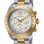 Invicta Speedway Quartz Watch – Gold, Stainless Steel case with Steel, Gold tone Stainless Steel band – Model 9212