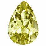 Loose Lemon Quartz Gemstone 8x6mm Pear AA Quality