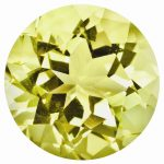 Loose Lemon Quartz Gemstone 3mm Round AA Quality