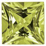 Loose Peridot Gemstone 3mm Princess AA Quality
