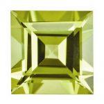 Loose Peridot Gemstone 3mm Square Step Cut AA Quality