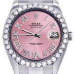 Rolex Datejust II Watch / 41 MM / Custom Pink Roman Dial / Oyster Band