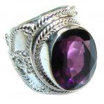 Bali Secret! Created Purple Amethyst Sterling Silver ring s. 8 1/4