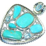 Always Together Sleeping Beauty Turquoise Sterling Silver Pendant
