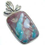 Fancy Multicolor Jasper Sterling Silver Pendant