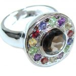 Pale Beauty! Brown Smoky Topaz Sterling Silver ring s. 9