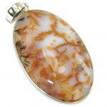 Secret Brown Scentic Agate Sterling Silver Pendant