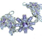 Secret Created Light Blue Tanzanite Sterling Silver Bracelet