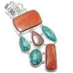 Amazing Red Sonora Jasper Sterling Silver Pendant