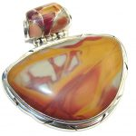 Perfect Gift! Silver Leaf Jasper Sterling Silver Pendant