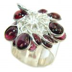 Excellent Purple Tourmaline Sterling Silver Ring s. 9