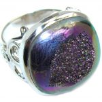 Mysterious Titanum Druzy Sterling Silver ring s. 8 3/4