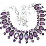 Expressions created Purple Alexandrite Sterling Silver necklace
