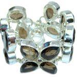 Sands Of Time Created Brown Smoky Topaz Sterling Silver Bracelet