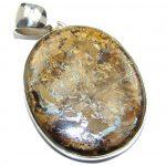 Fabulous Golden Pietersite Sterling Silver pendant