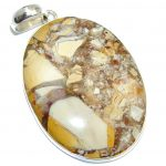 Big Fabulous AAA Burro Creek Jasper Sterling Silver Pendant