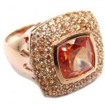 Secret Island Golden Topaz Rose Gold over Sterling Silver Ring s. 9