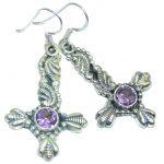 Perfect Genuine Amethyst Sterling Silver earrings