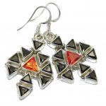 Chunky Cubic Zirconia Sterling Silver earrings