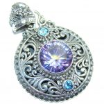 Amazing – Bali Handcrafted – Lilac Magic Topaz Sterling Silver Pendant