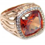 Golden Topaz Rose Gold plated over Sterling Silver ring s. 9