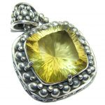 Amazing – Bali Handcrafted – Golden Topaz Sterling Silver Pendant