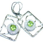 Amazing Natural Design Peridot Sterling Silver handmade Earrings
