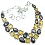 Summer Beauty Mother Of Pearl & Quartz Sterling Silver necklace