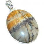 Big Fabulous AAA Red Creek Jasper Sterling Silver Pendant
