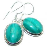 New AAA Green Malachite Sterling Silver handmade earrings
