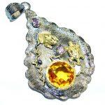 Lagune Golden Topaz Gold Rhodium plated over Sterling Silver Pendant