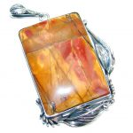 AAA quality Red Creek Jasper Sterling Silver Handmade Pendant