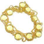 36 inches simulated Citrine Gold plated over Sterling Silver handmade Necklace
