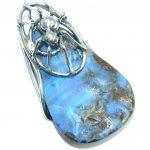 Spider Natural Australian Boulder Opal Sterling Silver handmade Pendant