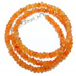 Tropical Orange Carnelian Sterling Silver handmade Necklace