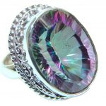 Exotic Rainbow Magic Topaz Sterling Silver Ring s. 6 3/4