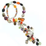 Aura Of Beauty genuine Multistone Sterling Silver handmade necklace