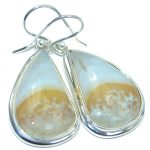 Natural Beauty Ocean Jasper Sterling Silver handmade Earrings