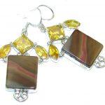 Just Perfect Gift Morrisonite Sterling Silver Earrings