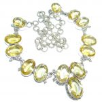 Mexican Summer natural Citrine Sterling Silver handmade Necklace
