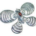 Authentic Garnet Sterling Silver handmade Pendant