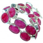 Special Item Natural Red Ruby 925 Sterling Silver handmade Bracelet